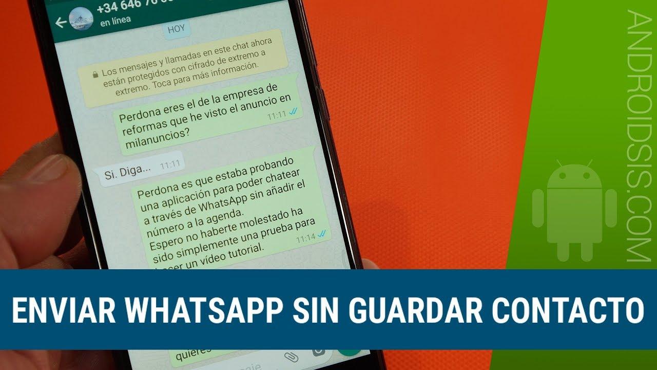 Como Enviar Whatsapp Sin Guardar Contacto Muy Util Youtube