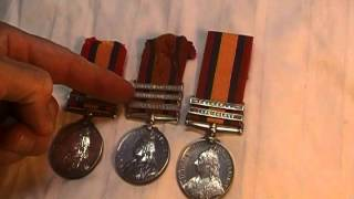 Boer War Queens South Africa Medal collection British military medals