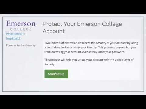 Duo, Single Sign-On, & Two Factor Authentication – Emerson IT Help Desk