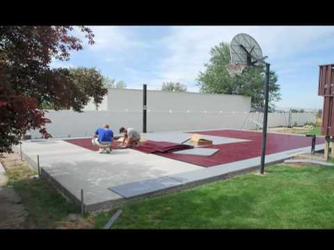 SnapSports® -Installs a Outdoor Basketball Court - Home Game Court  - Time Lapse