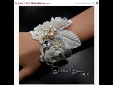 DIY Handmade Bridal Wrist Corsage Bracelet