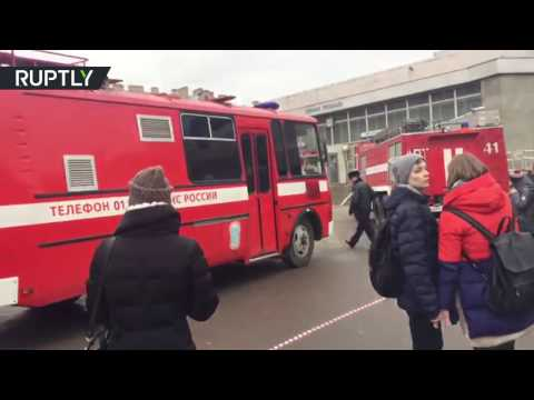 St. Petersburg metro blast RAW: Emergency services at station where explosion occurred