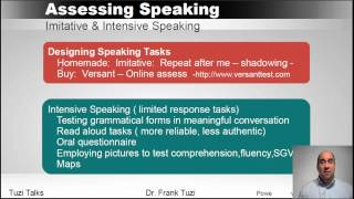 Assessing Speaking for ESL  learners