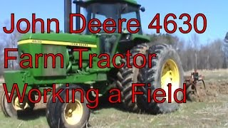 JOHN DEERE 4630 150 HP WORKING THE FIELD