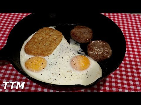 How to Cook Cast Iron Skillet Sausage and Eggs in the Oven~Easy Cooking