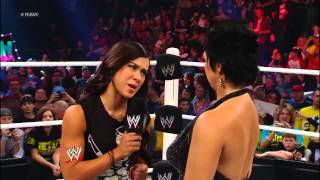 John Cena and AJ Lee kiss to the dismay of Vickie Guerrero: Raw, Nov. 19, 2012
