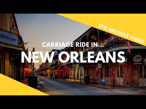 New Orleans French Quarter Carriage Ride