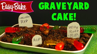 Easy Bake Oven Halloween Graveyard Chocolate Cake With Worms