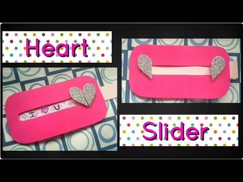 How To Make Heart Slider Card For Valentines Day Boyfriend Anniversary