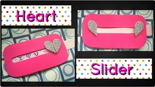 How to make Heart Slider Card for Valentines day, Boyfriend, Anniversary | Explosion box cards