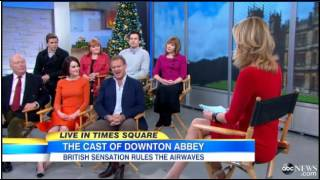 Downton Abbey Cast - Good Morning America