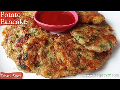 Potato Pancake Recipe- Healthy Snacks- Easy and Best Potato Pancakes- Bengali Breakfast Recipes