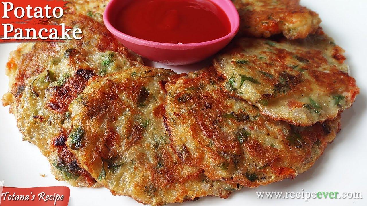 Potato Pancake Recipe Healthy Snacks Easy And Best Pancakes Bengali Breakfast Recipes