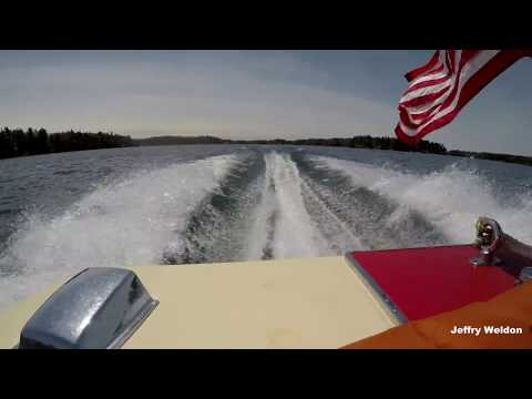Fast boat ride in the 1000 islands