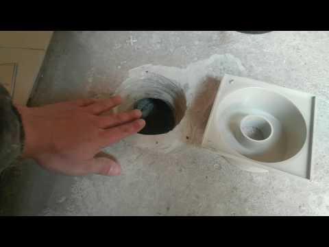 Баня №5 - Слив в бане, водяной затвор, плитка на пол в бане.