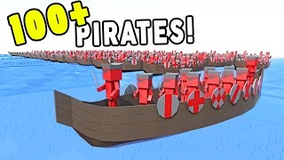 100 PIRATE SHIPS FIGHT TO THE DEATH! - Ancient Warfare 2 *UPDATE*