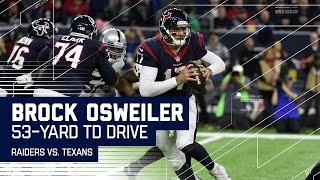 Brock Osweiler Leads Big 4Q Touchdown Drive! | Raiders vs. Texans | NFL Wild Card Highlights