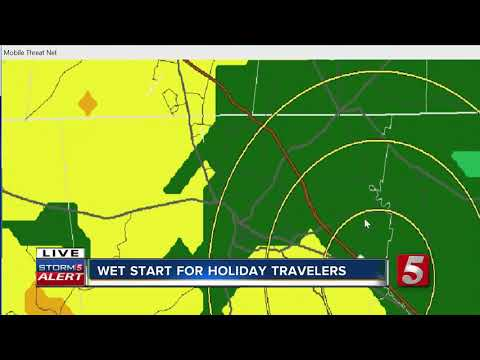 Wet Start For Holiday Travelers