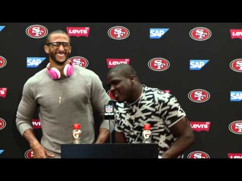 49ers Vs Chiefs Postgame Press Conference - Colin Kaepernick + Frank Gore