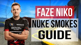 FaZe NiKo Nuke Smokes Flashes And Nade Guide CS:GO