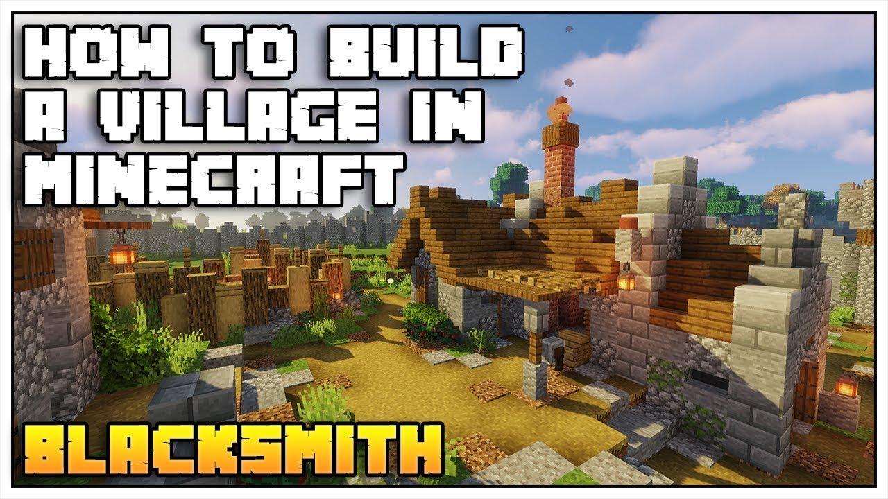 How to Build a Village in Minecraft 12.1212 [Part 12: BLACKSMITH TUTORIAL]