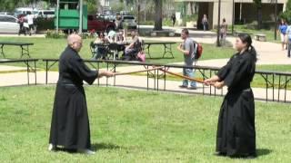 Valencia College Asian Festival 2013 - Rising Sun Dojo demonstrate the Mukushin-ryu Bujutsu