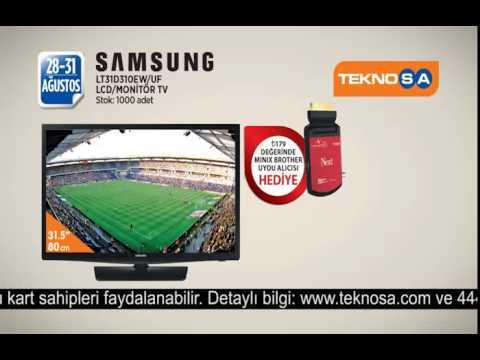 Teknosa Turuncu İndirim Samsung HD LED Monitör TV Reklamı