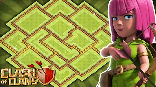 Clash of Clans - NEW Update EPIC TH11 Hybrid Base!! CoC Town hall 11 Farming/Trophy Base!!