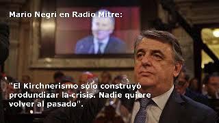 Mario Negri en Radio Mitre con Diego Leuco