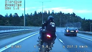 Fatal high speed police chase - Unmarked SAAB 9-5 Aero vs Kawasaki ZX-10R *Translated*