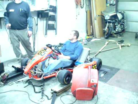 Stock Honda shifter kart cr125 dyno pull NSEW Racing Engines