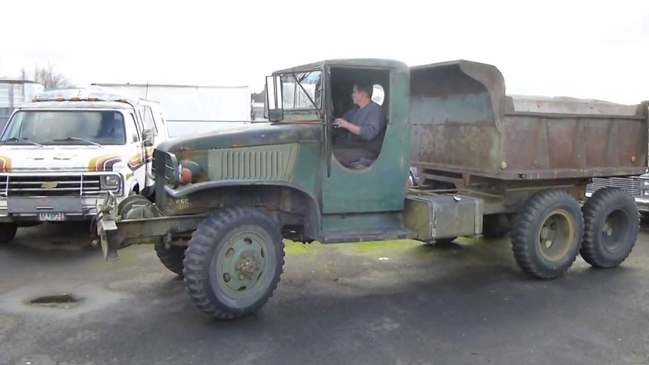 5 Ton Army Trucks >> 1944 GMC CCKW 2.5 Ton Army Truck Start Up - YouTube