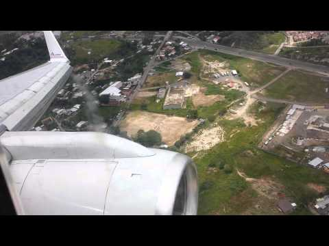 Very low landing in Tegucigalpa, Honduras AA955