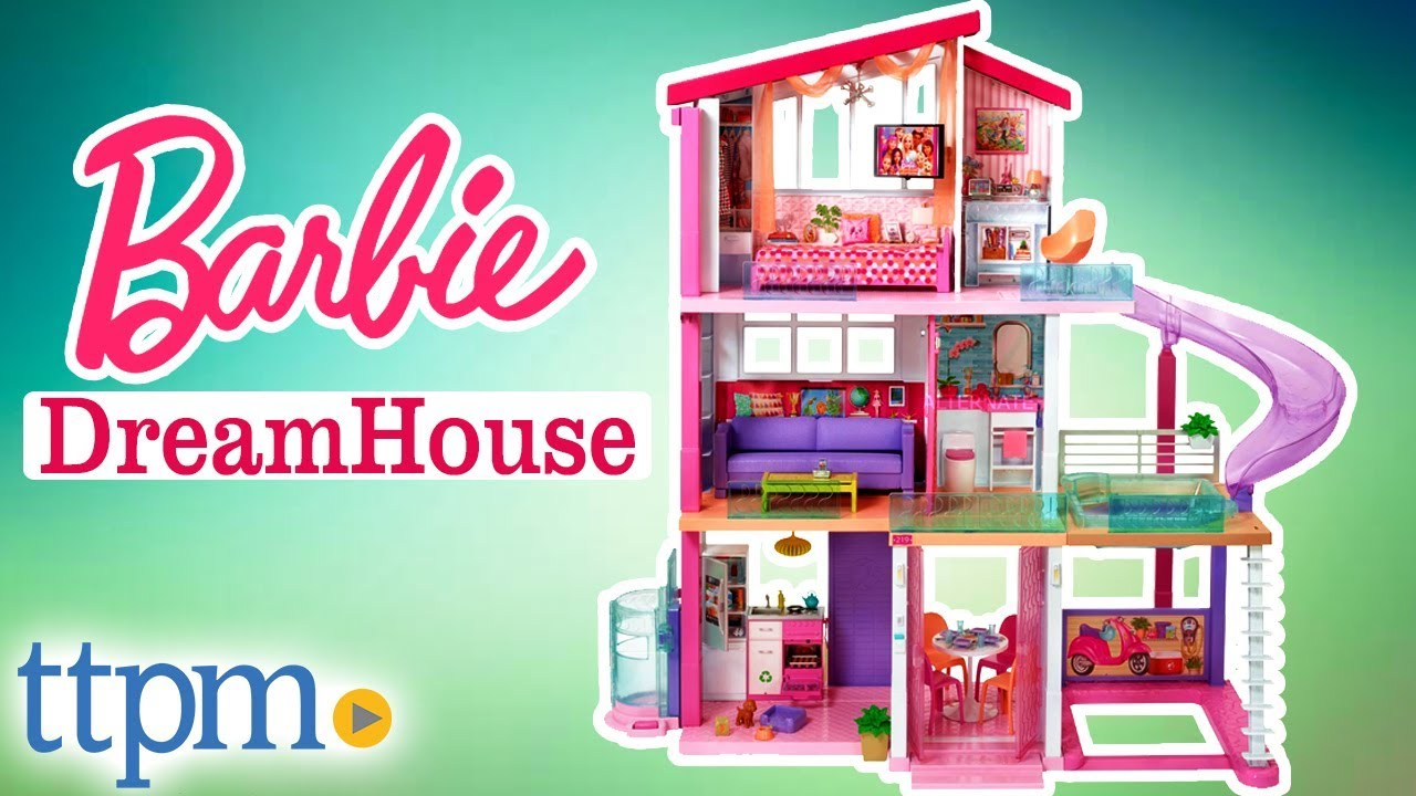 Barbie Dreamhouse Playset With 70 Accessory Pieces Mattel Toys