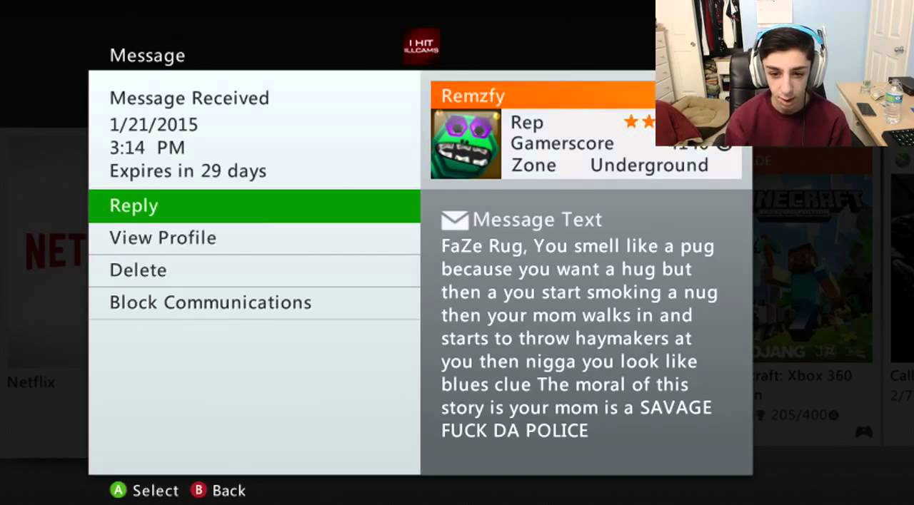 Faze Rug Reads Xbox Messages Faze Rug Youtube