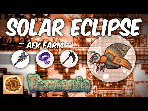 Terraria AFK Solar Eclipse Farm | Get the Death Sickle, Moon Stone & More! (1.2.4.1)