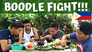 BOODLE FIGHT!!! Filipino Food MUKBANG!!! Philippines!!!