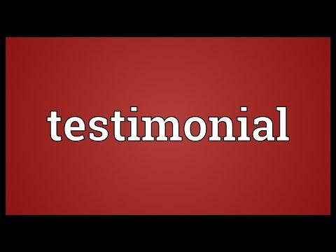 Testimonial Meaning