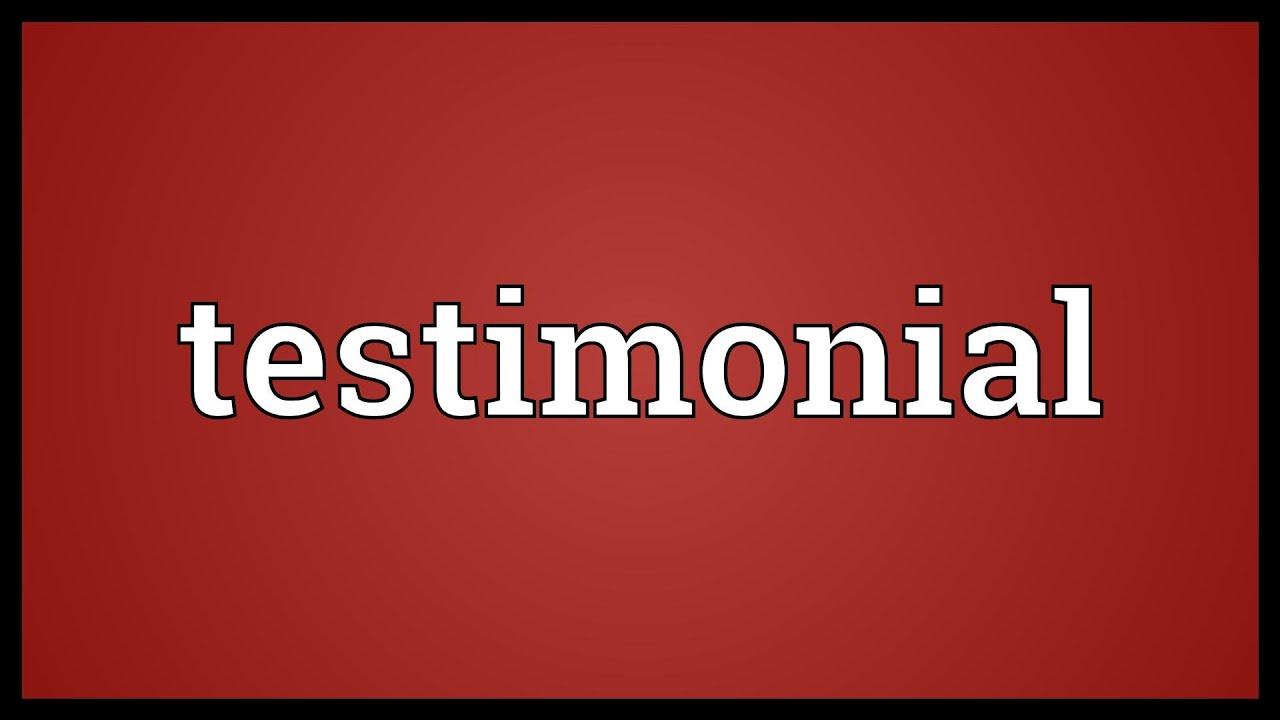 Testimonial Meaning Youtube