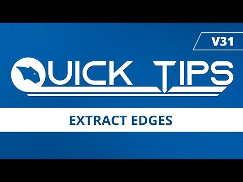 Extract Edges - BobCAD-CAM Quick Tips: V31
