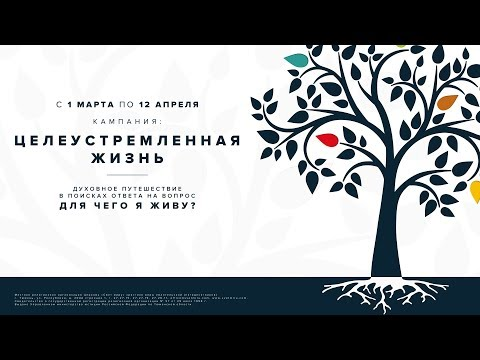 """Кампания """"Целеустремленная жизнь"""": 29.03.2020 П. Лавренов """"Служение"""""""