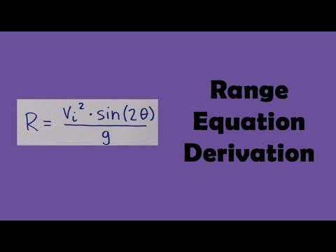 Range Equation Derivation