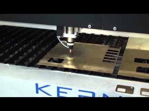 Kern Lasers Brass Cutting Laser Cutter Youtube