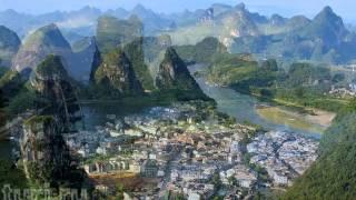 видео Река Ли (Лицзян), Гуйлинь, Китай в 4К Ultra HD