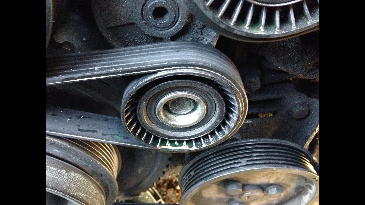 how to replace belt tensioner idler adjusting pulley 97 03 bmw 5 series e39 528i 540i m5 [ 1280 x 720 Pixel ]