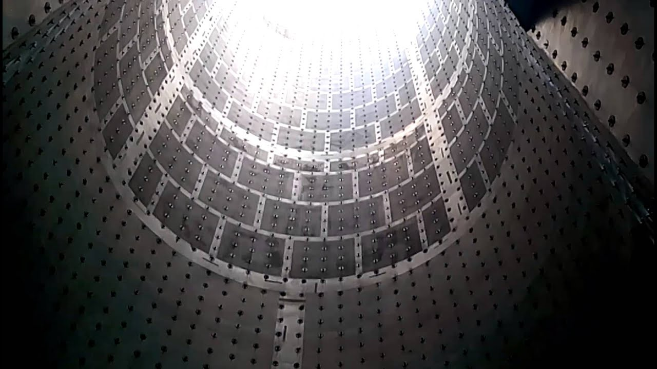 Gas turbine exhaust stack inside