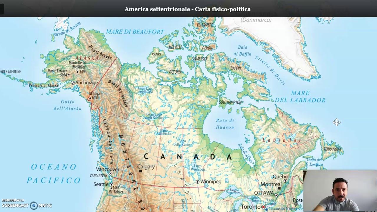 Canada Cartina Fisica.Canada Youtube