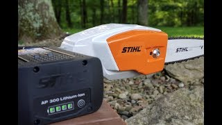 #178 STIHL HTA 85 Pole Saw, Just How Long Does The Lithium Ion Battery Last?