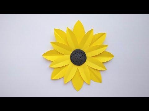 Плоские цветы из цветной бумаги своими руками