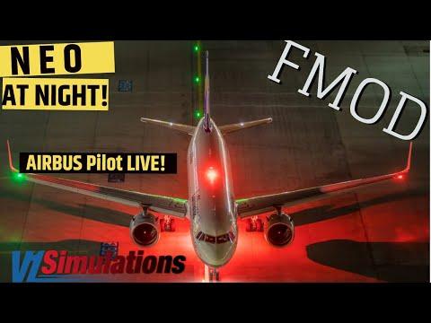 FF 320 **NEO** At Night I REAL Airbus Pilot LIVE